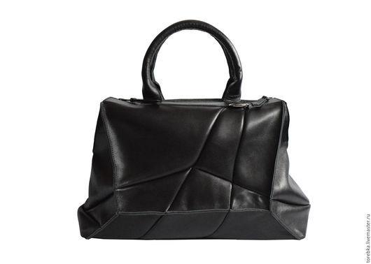 Женские сумки ручной работы. Ярмарка Мастеров - ручная работа. Купить Классика в черном. Handmade. Женская сумка, геометрия, черный
