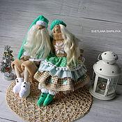 Куклы и игрушки ручной работы. Ярмарка Мастеров - ручная работа Санта Клаус и новогодняя феечка ТИЛЬДА. Handmade.