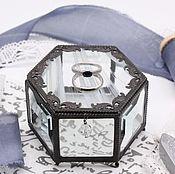 Свадебный салон handmade. Livemaster - original item Wings. Glass box for wedding rings. Handmade.