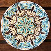"""Посуда ручной работы. Ярмарка Мастеров - ручная работа Тарелка декоративная """"Шоколадные пики"""". Handmade."""