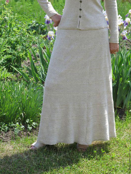Юбки ручной работы. Ярмарка Мастеров - ручная работа. Купить юбка однотонная. Handmade. Бежевый, юбка в стиле бохо