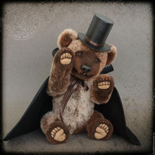 Мишки Тедди ручной работы. Ярмарка Мастеров - ручная работа. Купить Граф Дракула. Handmade. Коричневый, коллекционный мишка