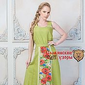 Одежда handmade. Livemaster - original item Skirt Meadow flowers on a green. Handmade.