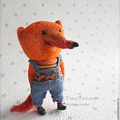 Украшения ручной работы. Ярмарка Мастеров - ручная работа брошь лисёнок из шерсти. Handmade.