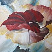 """Картины и панно ручной работы. Ярмарка Мастеров - ручная работа картина """"Планета Антуриум"""". Handmade."""
