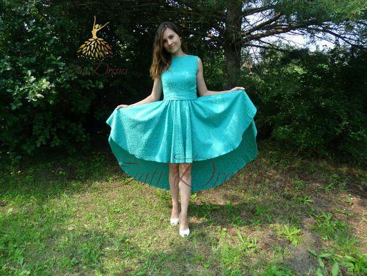 Платья ручной работы. Ярмарка Мастеров - ручная работа. Купить Каскадное платье. Handmade. Вечернее платье, хлопковый жаккард