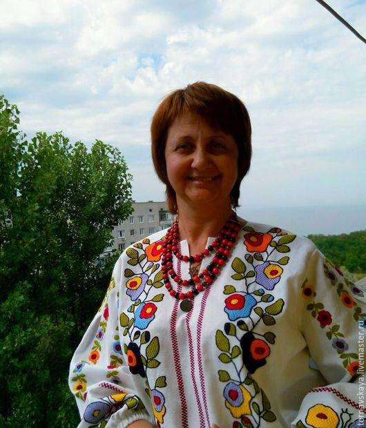 Нарядная блузка, ручная вышивка