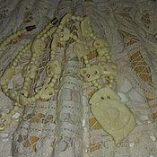 Винтажные колье ручной работы. Ярмарка Мастеров - ручная работа Колье из резной кости. Handmade.
