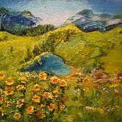 """Картины ручной работы. Ярмарка Мастеров - ручная работа Картина """"Озеро любви"""". Handmade."""