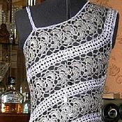 """Одежда ручной работы. Ярмарка Мастеров - ручная работа платье шёлковое """"аметист в серебре"""". Handmade."""