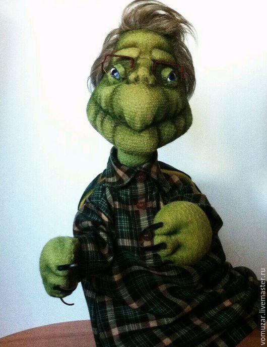 Кукольный театр ручной работы. Ярмарка Мастеров - ручная работа. Купить Перчаточная кукла на гапите черепаха. Handmade. Стивен Кинг
