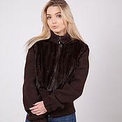 Одежда handmade. Livemaster - original item Mink jacket with knit.. Handmade.