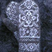 Варежки ручной работы. Ярмарка Мастеров - ручная работа Варежки из козьего пуха с орнаментом. Handmade.