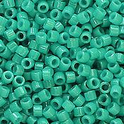 Бисер ручной работы. Ярмарка Мастеров - ручная работа Delica DB-658 Dyed Op Turquoise Green японский бисер делика Миюки. Handmade.