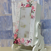 Для дома и интерьера ручной работы. Ярмарка Мастеров - ручная работа Зеркало шкатулка для хранения украшений Розовые мечты. Handmade.