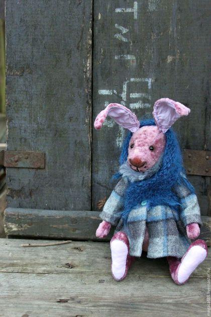 Мишки Тедди ручной работы. Заказать Заяц тедди Фрося. Мental toys (семейный магазин). Ярмарка Мастеров. Брусничный, проволока
