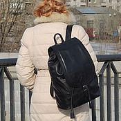 Сумки и аксессуары handmade. Livemaster - original item Leather backpack women`s black Jaclyn Mod R50u-711. Handmade.
