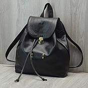 """Кожаный рюкзак """"For the city"""". Черный цвет."""