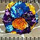 """Свадебные цветы ручной работы. Букет """"Краски"""". Фаинка Забоева. Интернет-магазин Ярмарка Мастеров. Яркий, букет для невесты"""