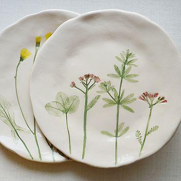 Посуда ручной работы. Ярмарка Мастеров - ручная работа Тарелки из серии Дикие травы. Handmade.