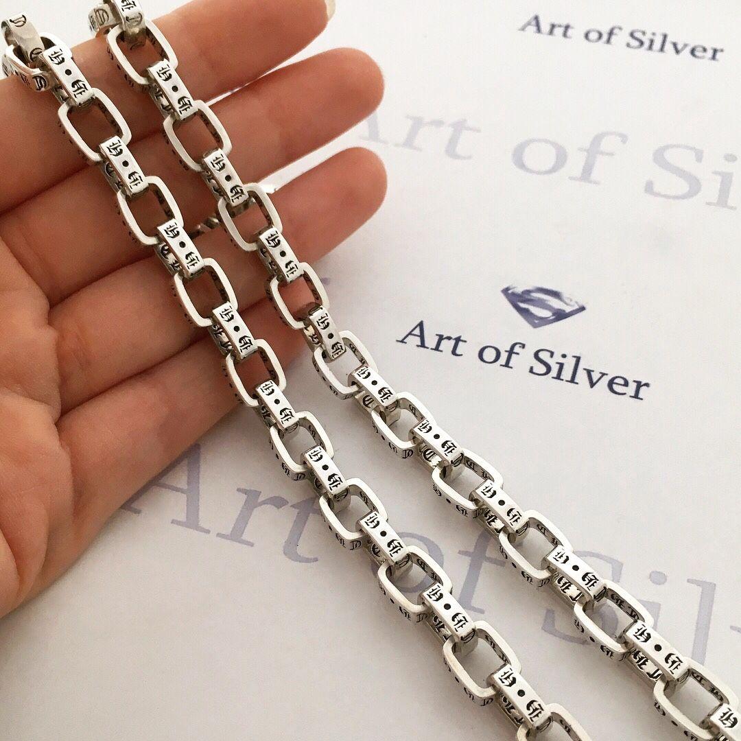 Купить Серебряная мужская Украшения для мужчин, ручной работы. Серебряная  мужская цепочка Chrome Hearts. 5c5e6a15bcc