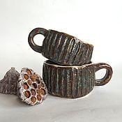 Посуда ручной работы. Ярмарка Мастеров - ручная работа Пара чашек. Handmade.