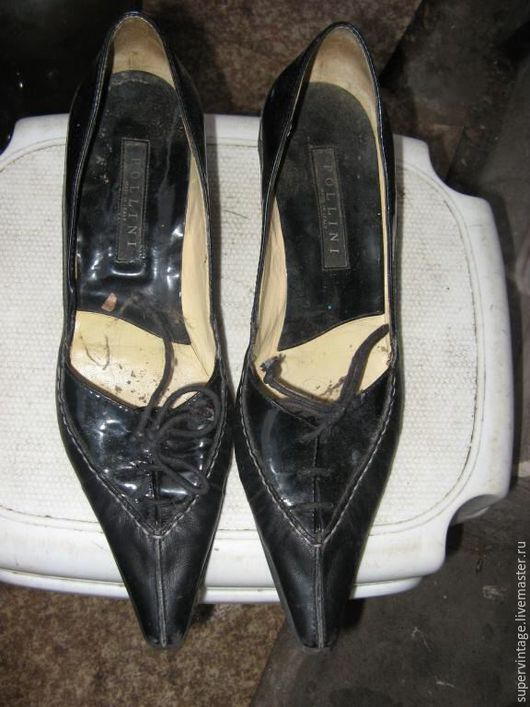 Винтажная обувь. Ярмарка Мастеров - ручная работа. Купить Туфли Pollini,винтаж, оригинал. Handmade. Черный, бренд, брендовые туфли