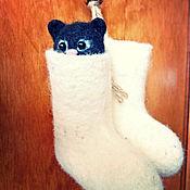 Куклы и игрушки ручной работы. Ярмарка Мастеров - ручная работа Котик в валенке. Handmade.