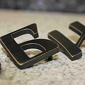 Дизайн и реклама ручной работы. Ярмарка Мастеров - ручная работа Буквы из латуни с патиной. Handmade.