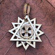 Фен-шуй и эзотерика handmade. Livemaster - original item Star Artgame bilateral (gold plated on silver). Handmade.