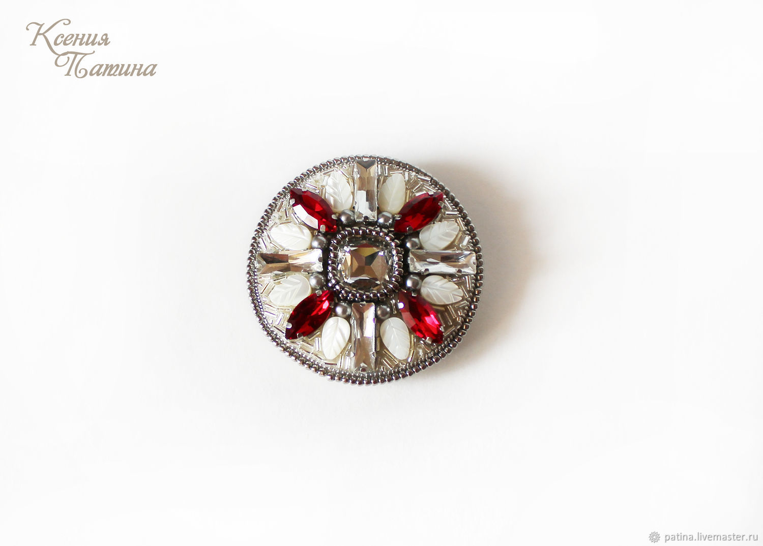 Brooches are handmade.Order brooch decoration mother of pearl. Fair Masters. Ksenia Patina.