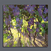 Картины и панно handmade. Livemaster - original item Among lilacs. Oil painting. Handmade.