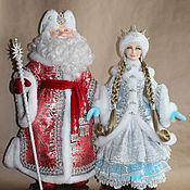 Куклы и игрушки ручной работы. Ярмарка Мастеров - ручная работа Дед Мороз и Сенегурочка. Handmade.