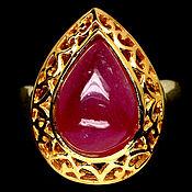 Кольца ручной работы. Ярмарка Мастеров - ручная работа Кольцо с натуральным рубином. Handmade.