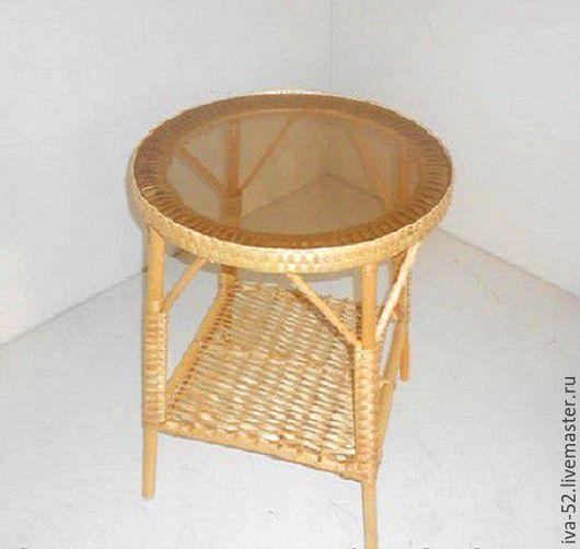 Мебель ручной работы. Ярмарка Мастеров - ручная работа. Купить Стол круглый со столешницей из стекла.. Handmade. Стол