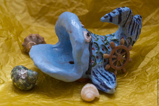 """Ванная комната ручной работы. Ярмарка Мастеров - ручная работа. Купить Керамическая мыльница """"Чудо-рыба"""". Handmade. Голубой"""