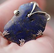Украшения handmade. Livemaster - original item Ring with azurite