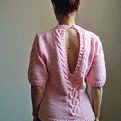 Одежда ручной работы. Ярмарка Мастеров - ручная работа Нежно розовый свитер. Handmade.