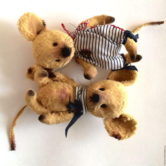 Мишки Тедди ручной работы. Ярмарка Мастеров - ручная работа. Купить Мышата Луковки. Handmade. Желтый, мышка тедди
