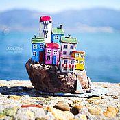 """Для дома и интерьера ручной работы. Ярмарка Мастеров - ручная работа Морская композиция """"Островок"""" driftwood. Handmade."""
