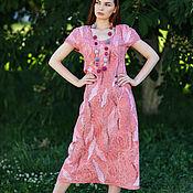 Dresses handmade. Livemaster - original item dresses: Dress felted Pink dawn. Handmade.