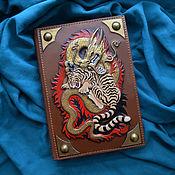 "Канцелярские товары handmade. Livemaster - original item Leather notebook ""DUEL"". Handmade."