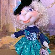 Куклы и пупсы ручной работы. Ярмарка Мастеров - ручная работа Девчушка в голубом. Handmade.