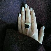 Украшения handmade. Livemaster - original item Ring with black onyx. Big, stylish ring!  Black onyx cut. Handmade.