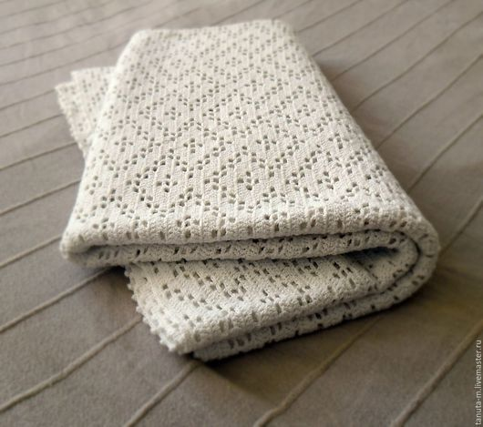 Текстиль, ковры ручной работы. Ярмарка Мастеров - ручная работа. Купить Небольшое вязаное покрывало. Handmade. Белый, небольшое покрывало