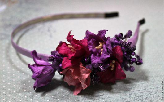 Диадемы, обручи ручной работы. Ярмарка Мастеров - ручная работа. Купить Яркий Capricho. Handmade. Комбинированный, цветы в волосах, яркий