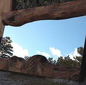 Для дома и интерьера ручной работы. Ярмарка Мастеров - ручная работа коричневое настенное зеркало в деревянной раме. Handmade.