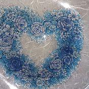 """Посуда ручной работы. Ярмарка Мастеров - ручная работа Тарелка """"Холодное сердце"""". Handmade."""