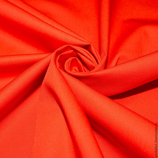 Шитье ручной работы. Ярмарка Мастеров - ручная работа. Купить Джинсовая ткань с эластаном   MARINA RINALDI оранжевая. Handmade.