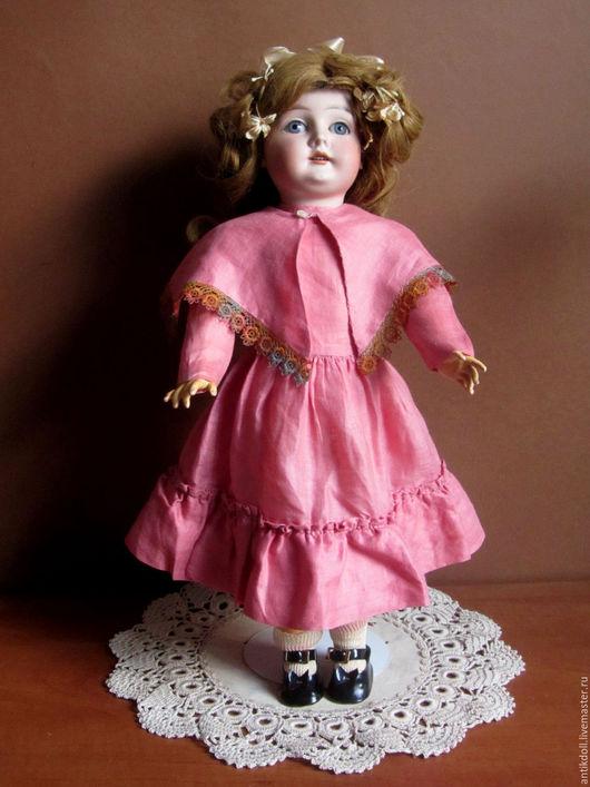Одежда для кукол ручной работы. Ярмарка Мастеров - ручная работа. Купить Винтажный комплект для антикварной куклы.. Handmade. Розовый, платье